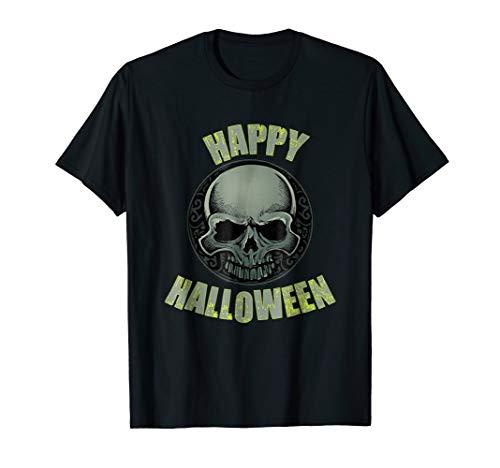 Happy Halloween Scary Skull Skeleton T