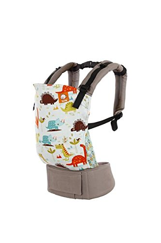 Baby Tula Ergonomic, Multi-Position Baby Carrier for 15 – 45 lbs. – Tulasaurus (Light Blue with Dinosaurs) by Baby Tula