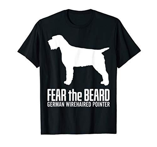 (Fear-The-Beard-German Wirehaired Pointer-Dog Dark T-Shirt)