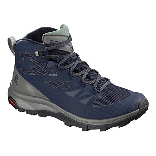 Salomon Castor Mid Capers Medieval Beluga Gtx Outline Blue Black Gray rAwfvxr6n