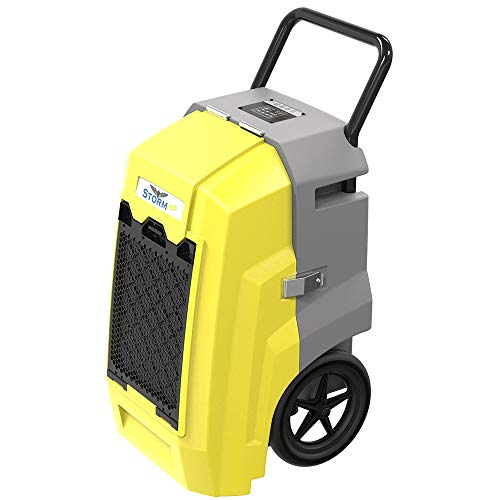 AlorAir Storm Pro Commercial Dehumidifier 180 PPD, LGR Portable Dehumidifier with Pump, cETL Listed, 5 Years Warranty, LCD Dispaly, for Clean-Up, Flood, Moisture (180 PPD)