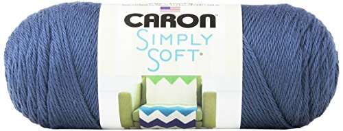Caron Simply Soft Solids Yarn (4) Medium Gauge 100% Acrylic - 6 oz -  Country Blue  -  Machine Wash & Dry