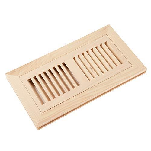 - Homewell Hickory Wood Floor Register, Flush Mount Floor Vent Cover, 4X10 Inch, No Damper, Unfinished