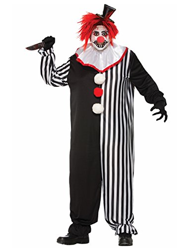 (Forum Men's Evil Clown Costume, Multi,)
