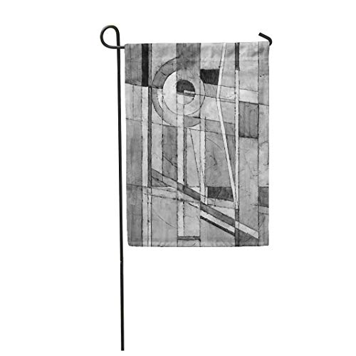 Tarolo Decoration Flag Black Monochrome Abstract Painting Modernist White Abstracted Abstraction Arch Thick Fabric Double Sided Home Garden Flag 12