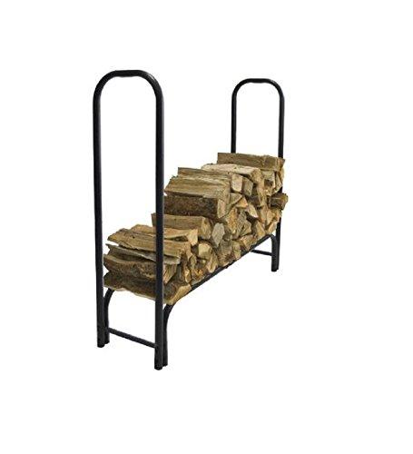 Heavy Duty 48″ Log Rack Deluxe outdoor Black For Sale