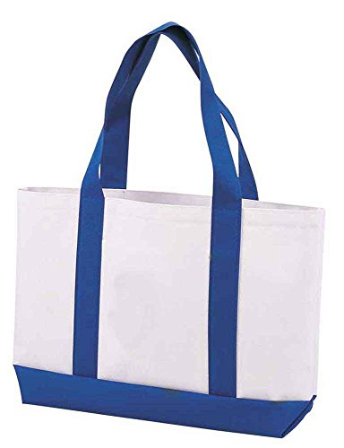 DALIX Shopping Cotton Grocery Blue 2X PACK