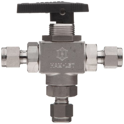 Ham-Let H6800 Series Stainless Steel 316 Ball Valve, 3-Way ...