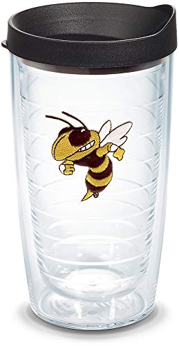 - Tervis 1056585 Georgia Tech Yellow Jackets Buzz Tumbler with Emblem and Black Lid 16oz, Clear