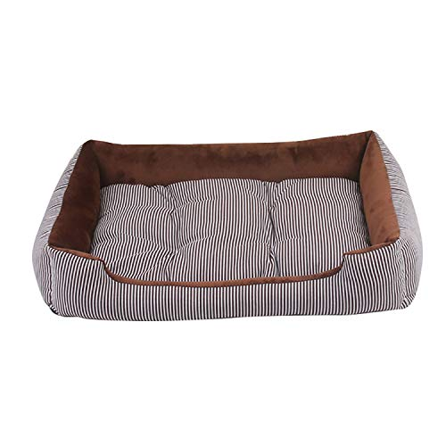 Top Round Separable - Dog Bed Mat House Pad Warm Winter Pet Supplies Kennel Soft Dog Puppy Warm Bed Plush Cozy Nest for Small Medium Large Dog,Coffee,45x28.5x12cm