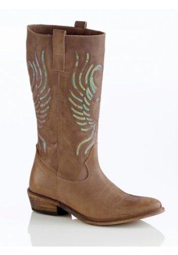 Best Connections Stiefel - Botas de cuero para mujer marrón - pardo