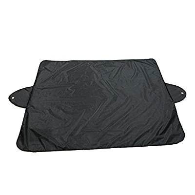 Black, Ikevan 1 x Cover Car Snow Ice Protector Visor Sun Shade Fornt Rear Windshield Cover Block Shields