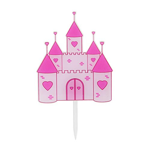 A Little Princess Cake Topper It's a Girl Pink Castle Cake Topper Baby Shower Gender Reveal Happy Birthday Wedding Party Decorations