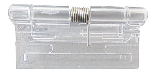Acryl-Hinge 2 - 1 3/4 (45mm) PAIR of CLEAR SPRING Hinges, Continous Acrylic Piano Hinges, by Caterpillar Red Continous Hinges