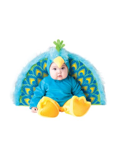 InCharacter Costumes Baby's Precious Peacock Costume, Blue/Yellow, Small