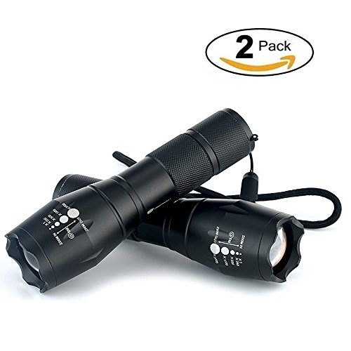 Xtreme Aluminum Flashlight (ORIENTOOLS Tactical Flashlight (2-Pack) 300 Lumens Aluminum Handheld Flashlight with Adjustable Focus and 5 Modes. Perfect for Camping, Hiking, Hunting and Search survival)