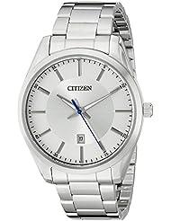 Citizen Mens Quartz Stainless Steel Watch with Date, BI1030-53A