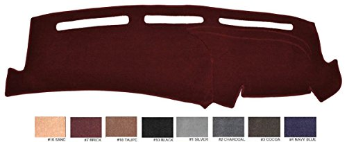 2015 - 2017 Ford Mustang Dash Cover Dashboard Cover Mat Dash Pad - Premium Custom Carpet (Brick ()