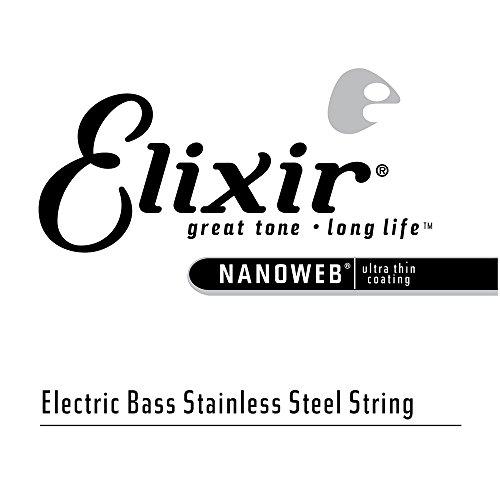 (Elixir Strings Electric Bass String NANOWEB Coating, .100, Extra Long Scale )