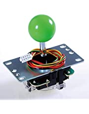 SANWA JLF-TP-8YT Joystick Green Original - for Arcade Jamma Game 4 & 8 Way Adjustable, Compatible with Catz Mad SF4 Tournament Joystick (Green Ball Top), Use for Arcade Game Machine Cabinet S@NWA