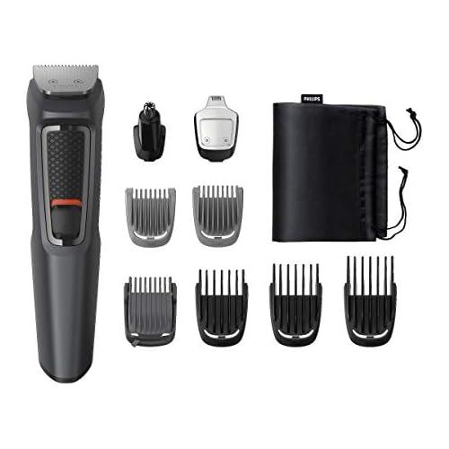 chollos oferta descuentos barato Philips MULTIGROOM Series 3000 Cara y cabello 9 en 1 MG3757 15 Afeitadora Acero inoxidable 70 min Integrado