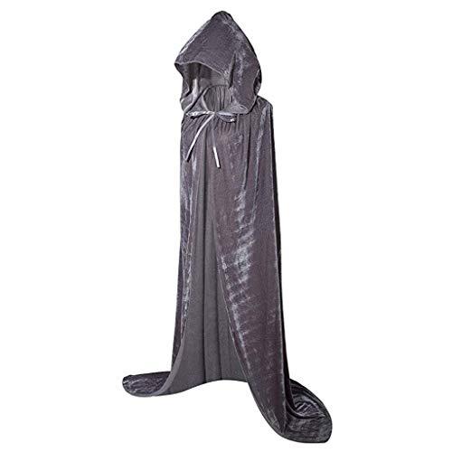 Holzkary Fashion Halloween Cloak Masquerade Party Blouse Fashion Pure Color ()