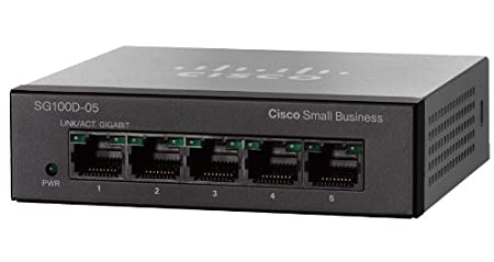 Commutateur KVM CISCO 100 SERIES SG100D05 NOIR 5PORTS