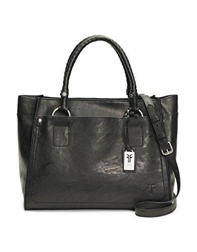 FRYE Demi Satchel Leather Handbag, black
