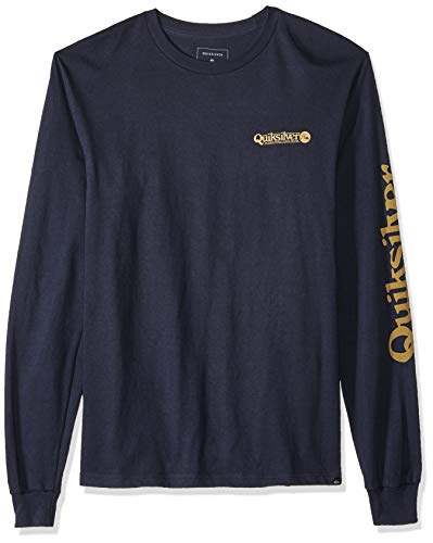 - Quiksilver Men's Check IT Long Sleeve, Blue Nights, M
