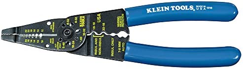 Klein Tools 1010 Multi Tool Long Nose Wire Cutter, Wire Crimper, Stripper and Bolt Cutter Multi-Purpose Electrician Tool, 8-Inch Long