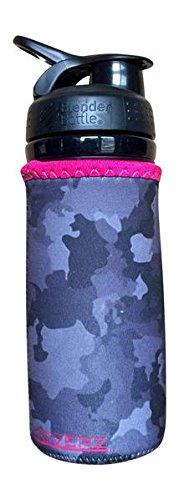 Koverz - #1 Neoprene 24-30 oz Water Bottle Insulator Cooler Coolie - Camo & Pink