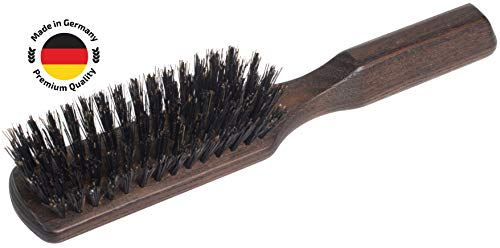 SHASH Pure 100% Boar Bristle Made in Germany Hair Brush, Firm - Naturally Conditions Hair, Improves Texture - Exfoliates, Soothes and Stimulates the Scalp, Eco-Sourced Ash Wood