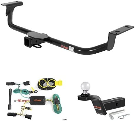"""Curt Trailer Hitch、配線& 2""""ボールマウントW / 2"""" Rise for 10–15Lincoln Mkt"""