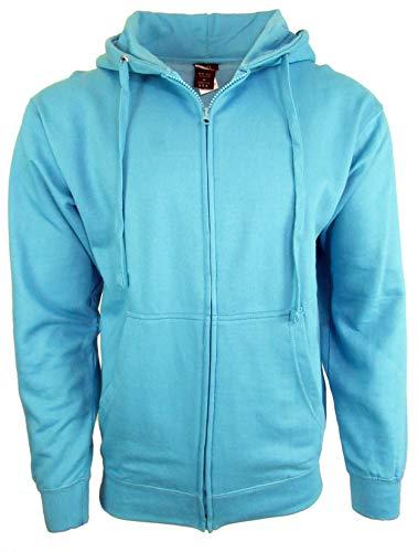 (Licensed-Mart Originals Unisex Basic Zip Up Hoodie Sweatshirt 4010 Aqua L)