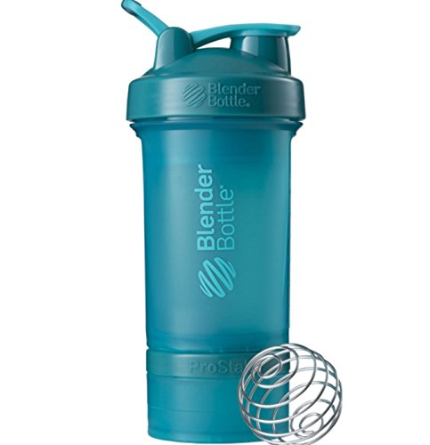 BlenderBottle ProStak 22 oz. Full Color (2 Jar; 100cc + 150cc) Teal Color
