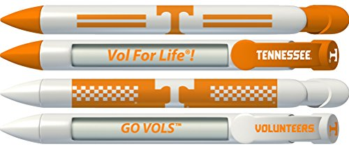 (University of Tennessee Volunteers Rotating Message Pens - 4 pack (8003) Officially Licensed Collegiate Product)