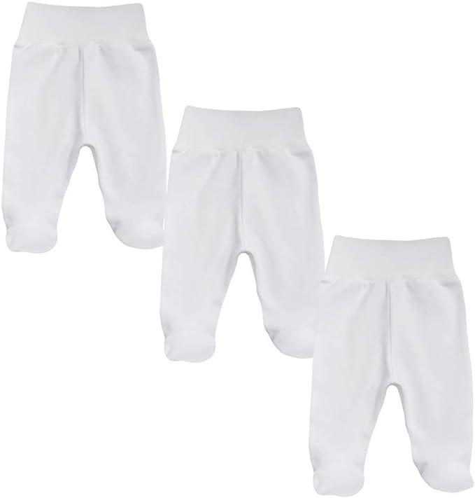 Pantalon pour b/éb/é avec Pied pour gar/çon. MEA BABY Lot de 5 Pantalons pour b/éb/é Unisexe avec Pied en 100/% Coton Body b/éb/é avec Pied