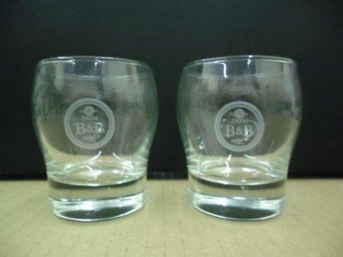 - Set of 2 Dom B&B Benedictine & Brandy Liqueur Cognac Snifter Cocktail Glasses