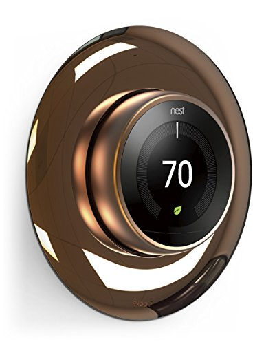 elago Wall Plate Cover for Nest Learning Thermostat [Chrome Bronze] - [Exact Color Match with Nest][Double Coated][UV Resistant][Hard ABS Material][Easy Installation] - for 1st, 2nd, 3rd generation