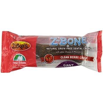 Zuke's Z-Bones Dog Dental Chews, Clean Berry Crisp, Giant
