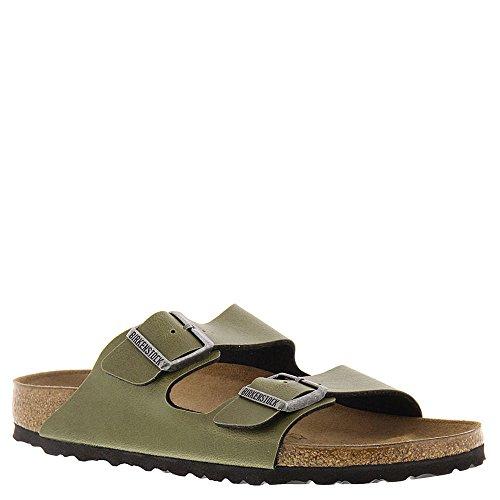 Birkenstock Women's Arizona  Birko-Flo Olive Birko-flor Pull Up Sandals - 38 N EU / 7-7.5 2A(N) US Women/5-5.5 2A(N) US Men