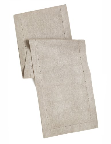 100% Linen Hemstitch Table Runner - Size 16x72 Natural - Hand Crafted and Hand Stitched Table Runner with Hemstitch detailing. The pure Linen fabric works well in both casual and formal settings by Orient Originals Inc.