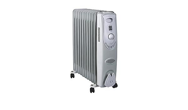 MT - Radiador aceite. 11 elementos. termostato ajustable. sistema automatico de proteccion por sobrecalentamiento. potencia: 2.500 w.