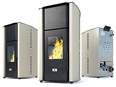 Estufa caldera de pellets Eco Spar modelo Hydro Auriga Salida de calor 25kW: Amazon.es: Bricolaje y herramientas