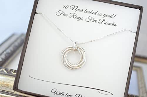 Gifts For 50th Wedding Anniversary For Friends: Amazon.com: 50th Birthday Necklace For Mom, 5th