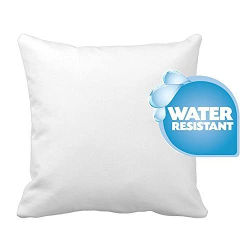 "Discount IZO Home Goods Premium Outdoor Anti-mold Water Resistant Hypoallergenic Stuffer Pillow Insert Sham Square Form Polyester, 24"" L X 24"" W, Standard/White"