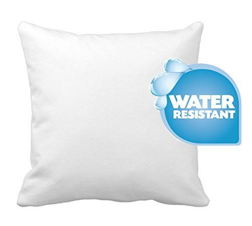 IZO Home Goods Premium Outdoor Anti-mold Water Resistant Hypoallergenic Stuffer Pillow Insert Sham Square Form Polyester, 18 L X 18 W, Standard/White
