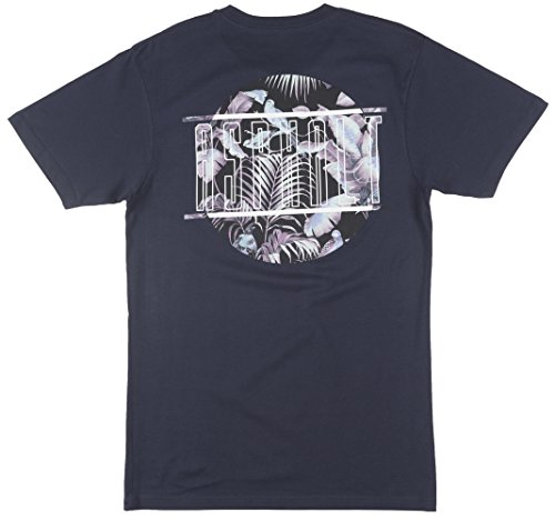 Asphalt Yacht Club Tri Floral Mens T-Shirt In Navy