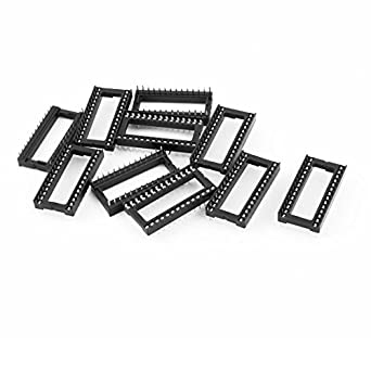 eDealMax 10 Piezas 2, 54 mm 2 Fila 28 Pin Solder ancha Dip zócalo del adaptador de chip IC: Amazon.com: Industrial & Scientific