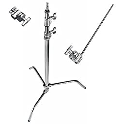 Avenger A2033LKIT Steel 40-Inch Sliding Leg C-Stand with Grip Kit (Chrome)